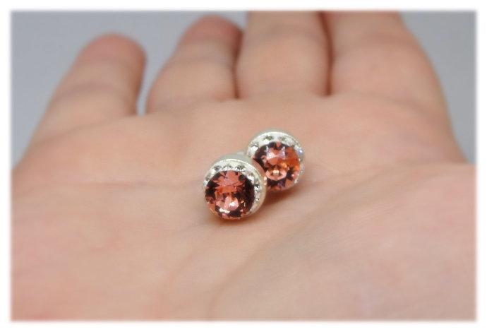 Swarovski Rose Blush Pink Stud Earrings