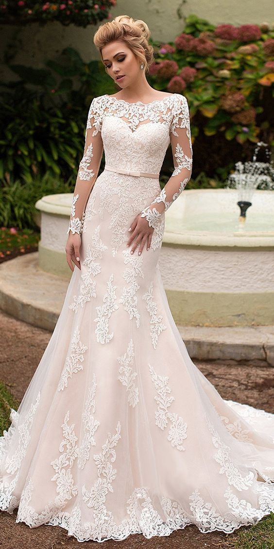 Weeding Dress Mermaid With Lace Appliques F1564