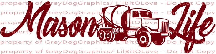 Mason Life Vinyl Decal Sticker Cement Mason Concrete Finisher Sticker Truck