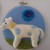 """Blue Spotted 4 Legged Guy Embroidery Hoop 5"""""""