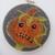 "Orange Pumpkin - Embroidery Hoop 5"" - Halloween/Fall Decoration"