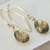 Topaz Earrings Dangle Gemstone Earrings Gold and Brown Sleek Earrings Golden