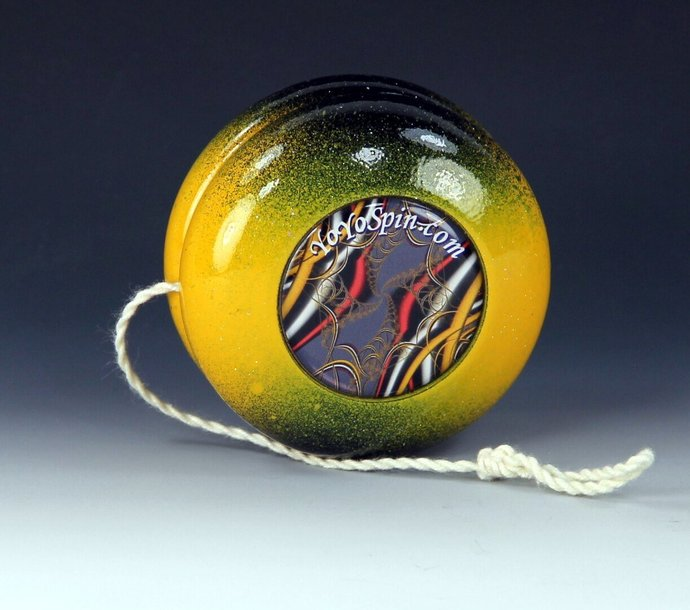 Vintage Parker Pro Wood YoYo, Imperial Fixed Axle with Fractals !