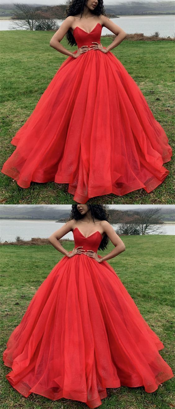 Red Wedding Dresses,Red Ball Gowns,Ball Gowns Prom Dresses,Ball Gowns