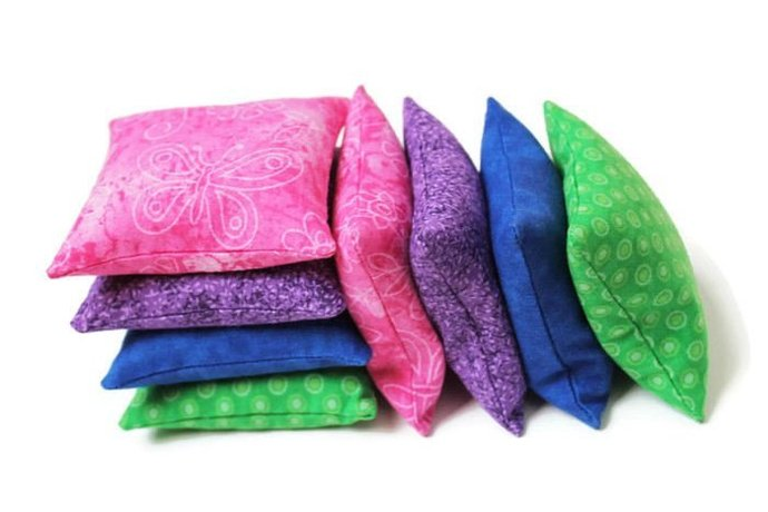 Bean Bags in Lime Green, Bright Blue, Purple, and Hot Pink for Boys or Girls