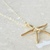 Starfish Charm Necklace Gold Nautical Starfish Necklace 14k Gold Filled Chain