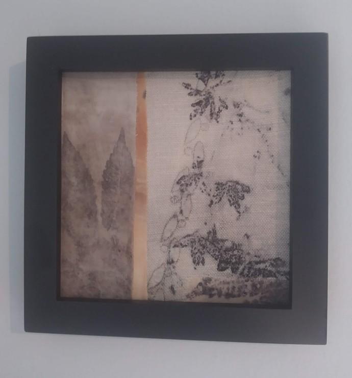 5x5 Framed Leaves Natural Dye Collage