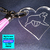 Laser engraved heart shaped acrylic keychains