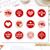 12 Valentine's Day Stickers, INSTANT DOWNLOAD, Treat Labels, Kids Valentines,