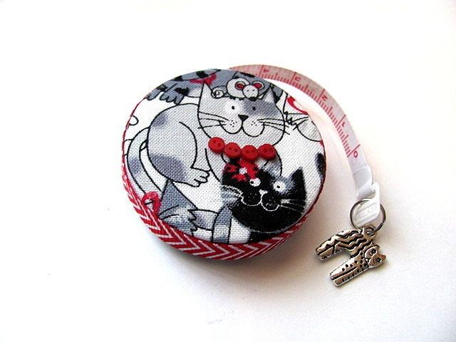 Tape Measure Happy Cats and Mouse Retractable Measuring Tape