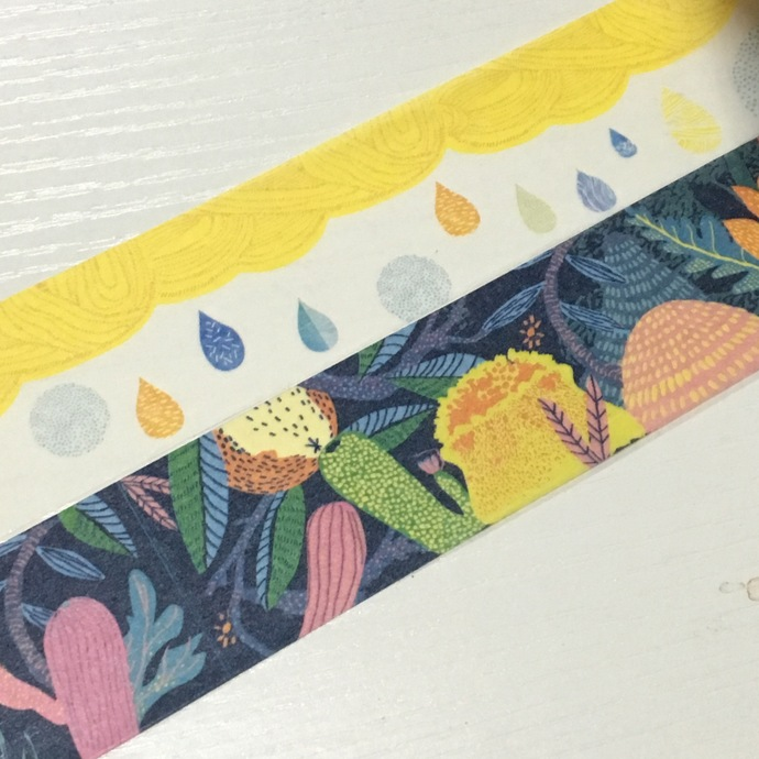 1 Roll of Limited Edition Washi Tape (Pick 1) : Colourful Raindrop or Rain