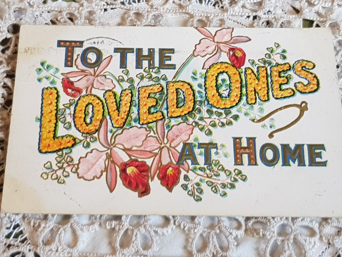 Early 1900s floral greeting postcard