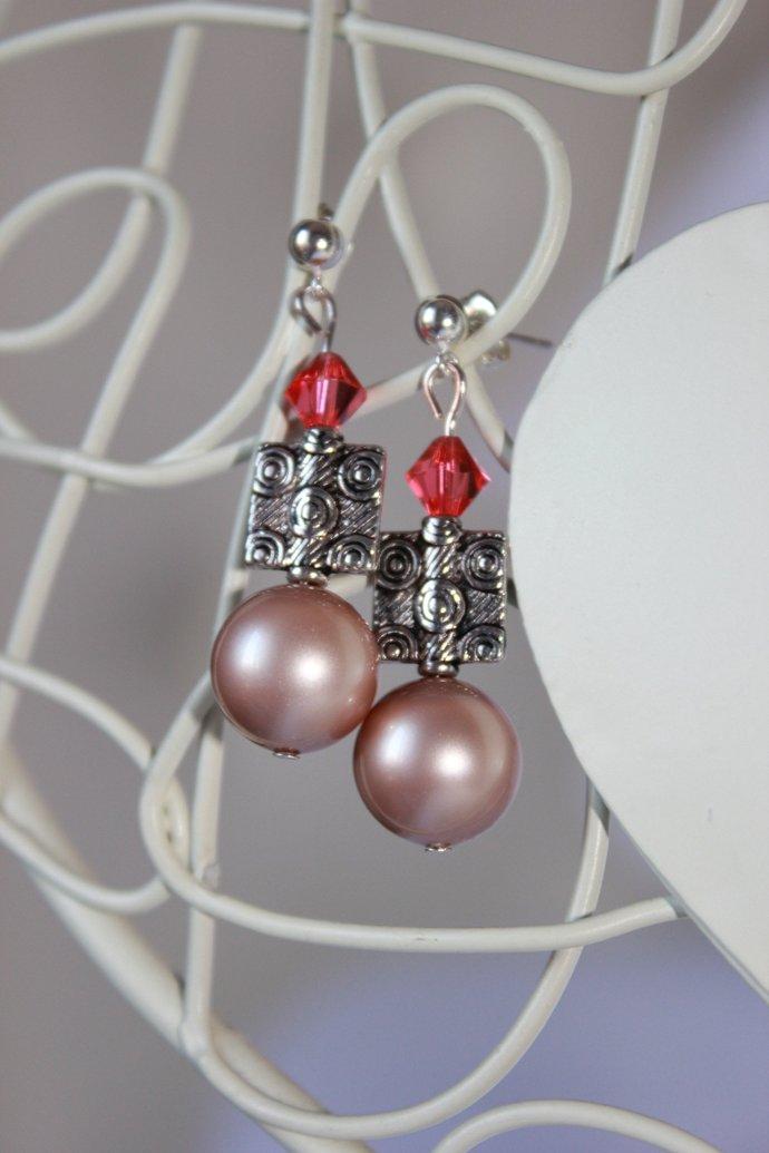 Rose gold pearls date night earrings