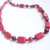 Red coral necklace with red glass pearls