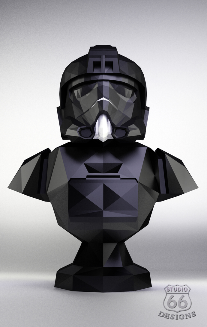 Papercraft Star Wars, Make your own Tie Fighter Statue, Papercraft Imperial