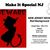 Jersey Devil - Beware (Red Background)