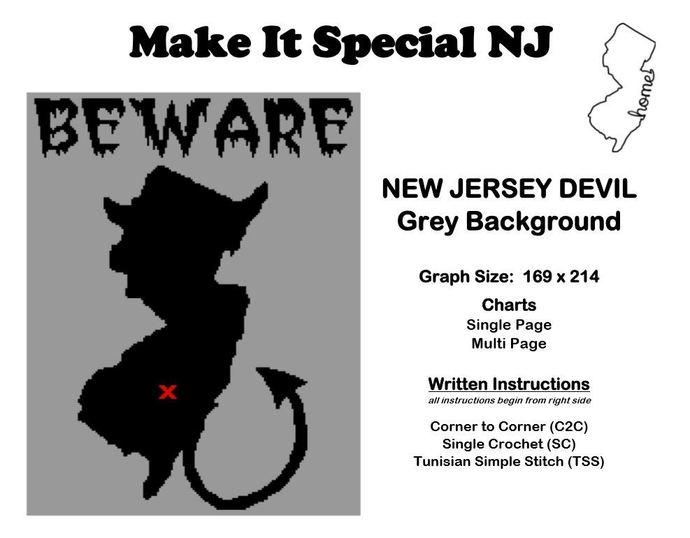 Jersey Devil - Beware (Grey Background)