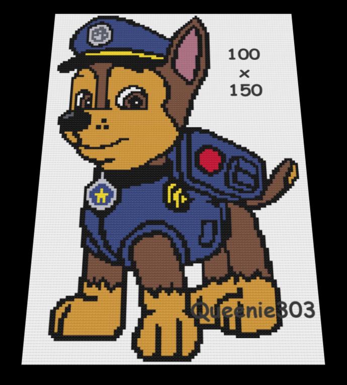 Paw Patrol Chase 100x150