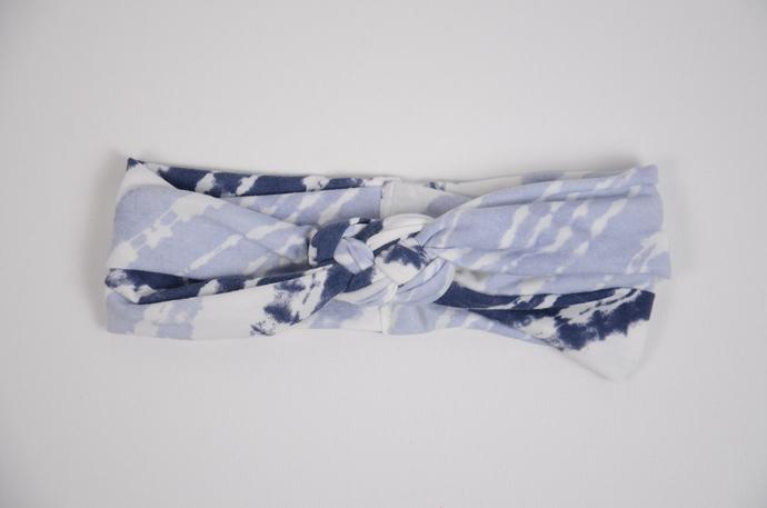 Adult Celtic Knot Headband - Blue Ombre Tie-Dye