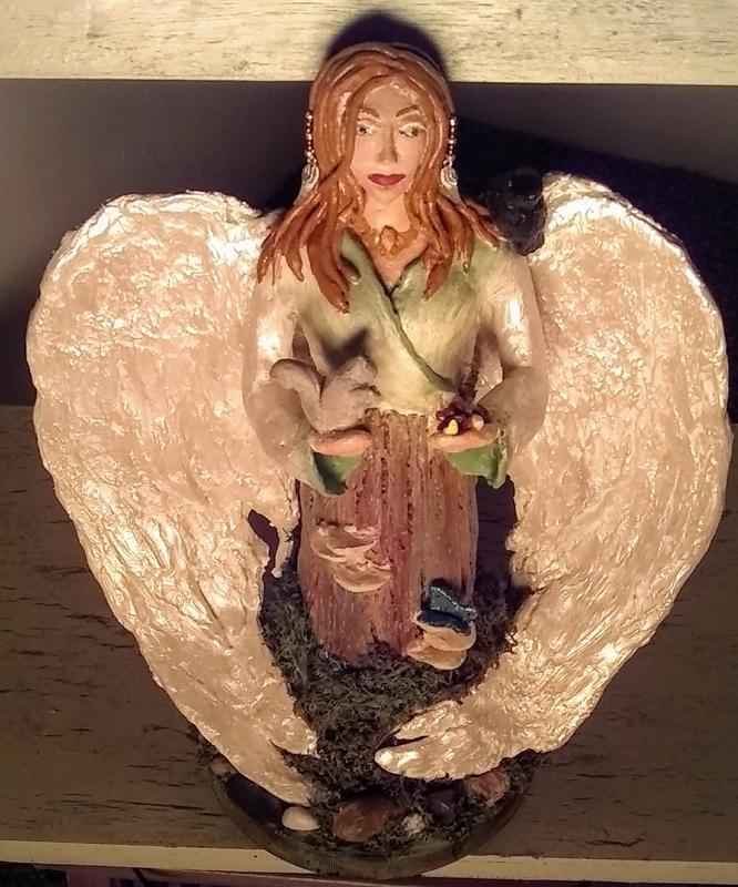 Nature's Angel Stoneware Figurine
