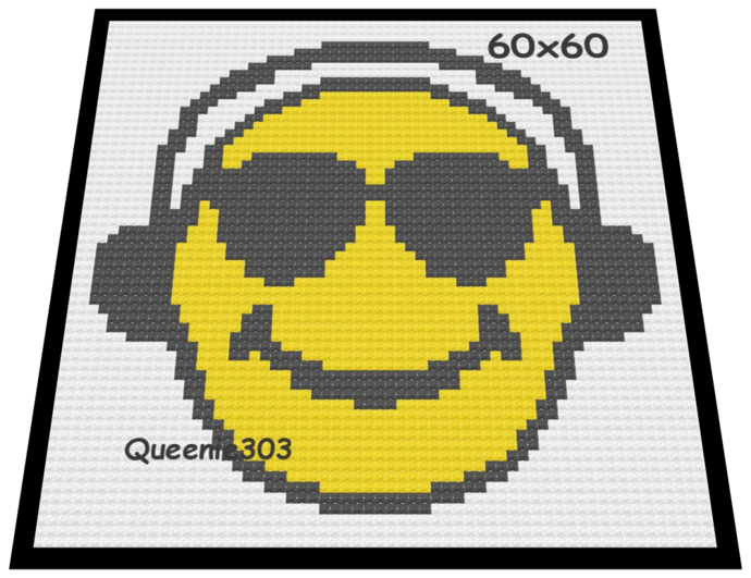 Music Smiley 60x60