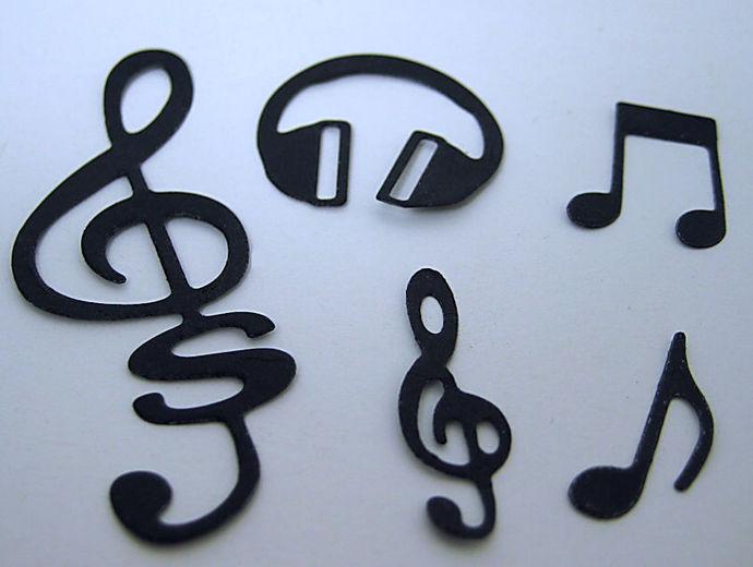 5pc Music Cutting Die Set
