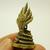 Nakprok mini amulet Lord Buddha protect by Naga Nak snakes miniature figurine