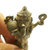 Lord Ganesh Ganesha ganapati vinayaka on cobra snake miniature lucky Hindu god