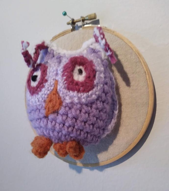 """Owl Embroidery Hoop 5"""""""