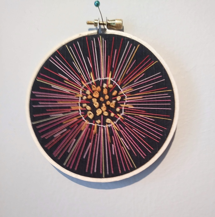 Abstract Night Image Embroidery Hoop 4""