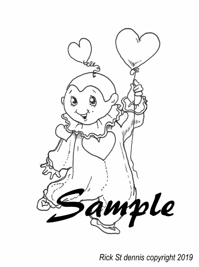 Jan 2019 Packet - Hearts // Cute Pierrot