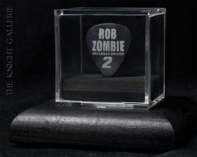 Commemorative guitar pick and display case: Rob Zombie