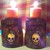 Purple Cubed Skull Glass Candle Holders