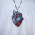 """The Gift"" Stained Glass Heart Necklace"