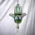 Green Hasma necklace with Jade and Quartz