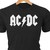 AC-DC  classic rock logo in heat transfer vinyl and pressed on a custom T-Shirt.