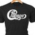Chicago classic rock logo in heat transfer vinyl and pressed on a custom