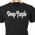 Deep Purple classic rock logo in heat transfer vinyl and pressed on a custom
