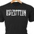 Led Zeppelin classic rock logo in heat transfer vinyl and pressed on a custom