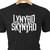 Lynyrd Skynyrd classic rock logo in heat transfer vinyl and pressed on a custom