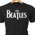 The Beatles classic rock logo in heat transfer vinyl and pressed on a custom