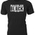 'Back in Black' text with AC/DC logo on Custom T-Shirt makes a great gift for