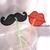 FSL Lips&Moustache decor drinking straws Free Standing Lace Machine Embroidery