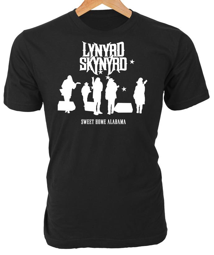 Lynyrd Skynyrd silhouette graphic of Sweet Home Alabama live vinyl album cover