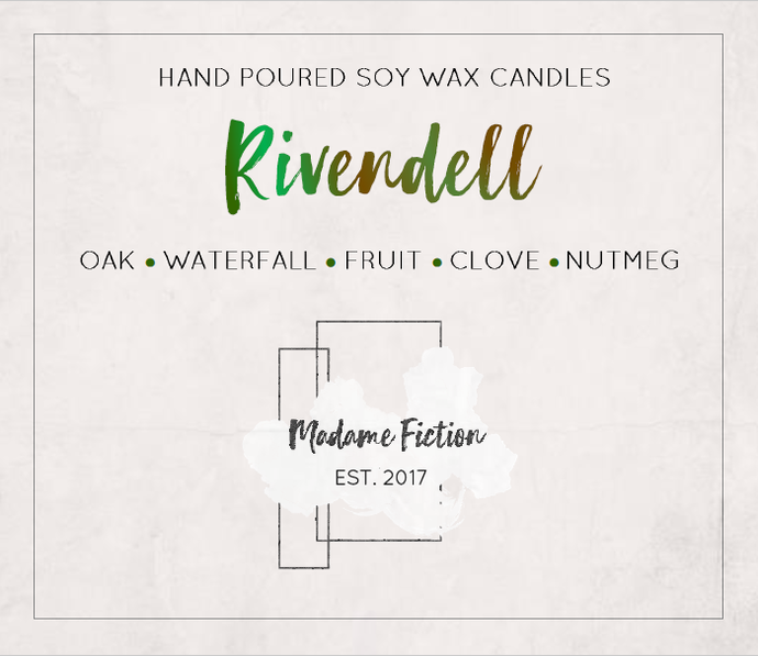 Rivendell - 8oz Candle - Lord of the Rings Inspired - Scented Soy Candle - Book