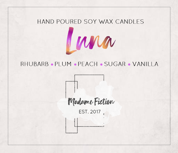 Luna - 4oz Sampler Candle - Harry Potter Inspired Candle - Scented Soy Candle -
