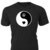 Ying Yang Peace Love logo graphic on custom T-Shirt — Makes a great gift for the