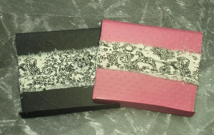 Shabby chic toille matchbook sticky note - set of 10