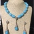 Turquoise Nugget Necklace and Earring Set