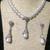 Teardrop Dangle Necklace and Earring Set